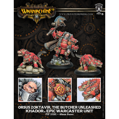 PIP 33101: Orsus Zoktavir, the Butcher Unleashed—Unité Warcaster épique Khador