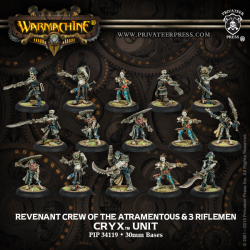 Revenant Crew of the Atramentous & 3 Riflemen