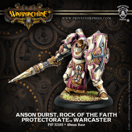 PIP 32103: Anson Durst, Rock of the Faith—Warcaster paladin Protectorat de Menoth