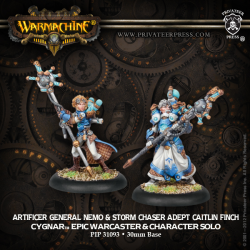 Artificer General Nemo & Storm Chaser Adept Caitlin Finch