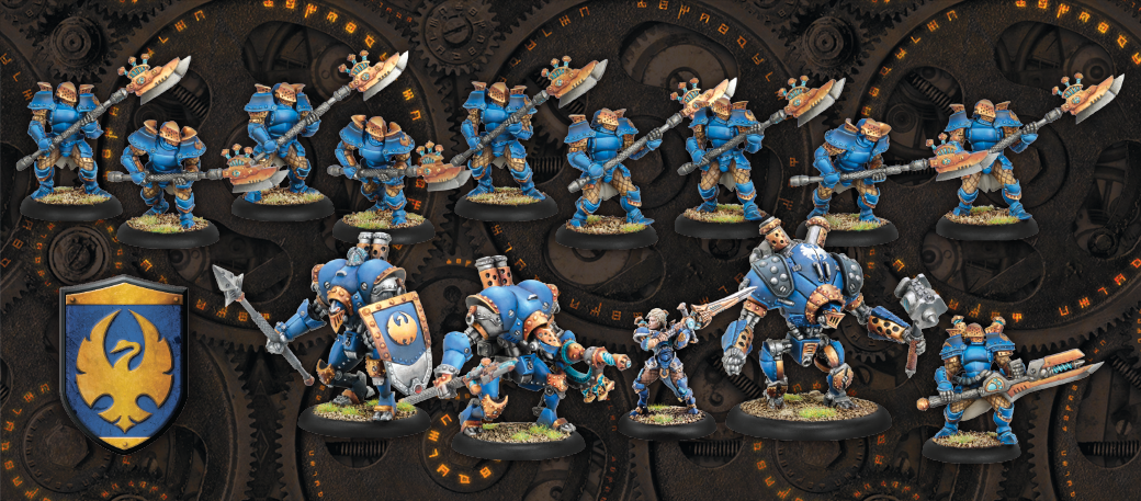Figurines Cygnar de la Two Player Battlebox pour WARMACHINE de Privateer Press
